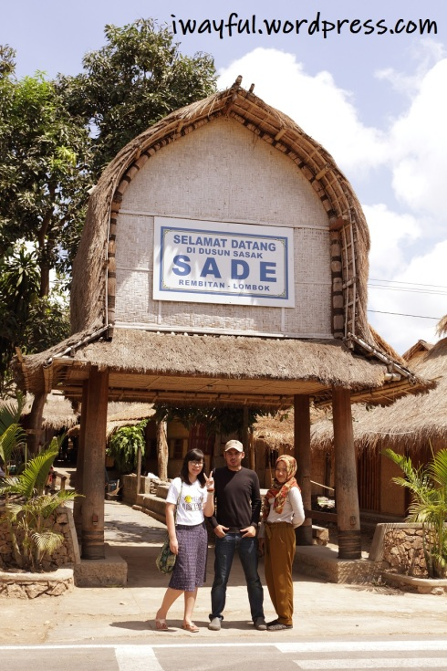 gerbang masuk menuju desa Sade